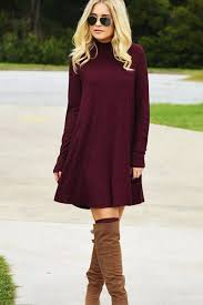 dresses with boots trendy sweater dress with boots fashion looks for