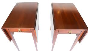 Henkel Harris Desk Henkel Harris Mahogany Drop Leaf Pembroke Side End Table Pair