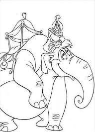 aladdin riding big elephant disney movie coloring pages