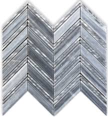 Marble Mosaic Floor Tile Gray Chevron 1x4 Polished Marble Mosaic Floor Wall Tile