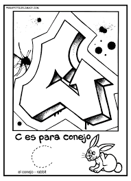 alphabet coloring pages in spanish strange spanish alphabet coloring pages fun to color graffiti