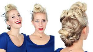 www hairstyle pin 1940 s pin up girl hairstyle youtube