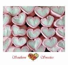 pink white hearts strawberry marshmallow 1kg lollies bulk candy