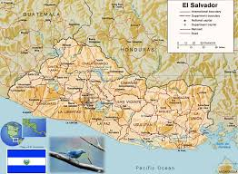 El Salvador On World Map by El Salvador Map San Salvador