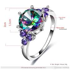 colored rings images 2018 wedding crystal silver color rings engagement cubic zircon jpg