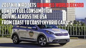 kia niro sets arbitrary guinness world record for fuel mileage and