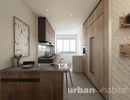 Flat Kitchen Design 3 Room Flat Kitchen Design Singapore