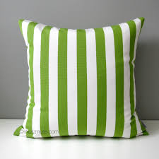 Outdoor Pillows Sale by Sale Lime Green U0026 White Striped Pillow Cover Modern Outdoor