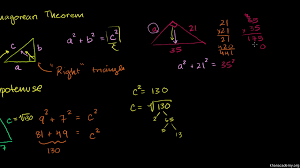 use pythagorean theorem to find right triangle side lengths