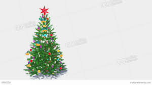 rotating decorated christmas tree on white background loop 4k