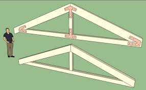 timber truss design with bolted connector plates truss