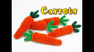 pipe cleaner craft carrot easy youtube