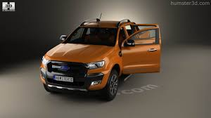 Ford Ranger 2014 Model 360 View Of Ford Ranger Double Cab Wildtrak With Hq Interior 2016