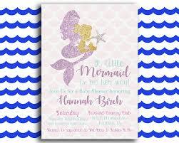 mermaid baby shower invitations glittery mermaid printable baby shower invitation the baby bee
