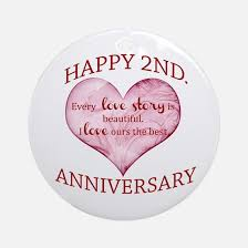 second year wedding anniversary second anniversary ornaments 1000s of second anniversary