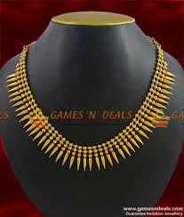 gold plated bead necklace images Nckn311 light weight gold plated traditional mullaipoo malai jpg
