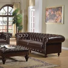 acme 51315 shantoria dark brown bonded leather sofa