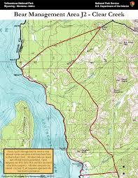 Bear Creek Trail Map Bear Management Area J2 Clear Creek 2 Map Yellowstone National