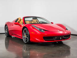 ferrari 458 back used 2014 ferrari 458 spider for sale plano tx vin