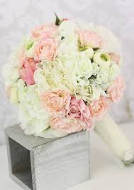 Shabby Chic Bridal Bouquet by Silk Bride Bouquet Peony Flowers Pink Cream Spring Mix Shabby Chic
