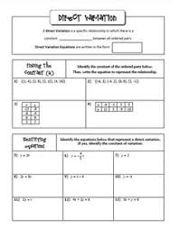 functions algebra 2 lesson 2 direct variation jean adams