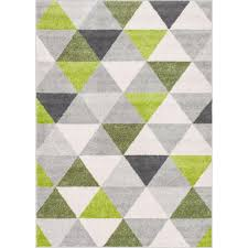 Rugs Modern Well Woven Mystic Alvin Modern Geometric Green 5 Ft 3 In X 7 Ft