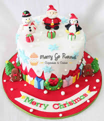 christmas cakes decor fondant cake images