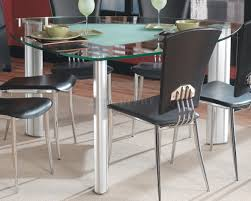 modern glass top dining table glass top modern dining table w optional black chairs
