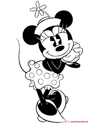 classic minnie mouse coloring pages disney coloring book