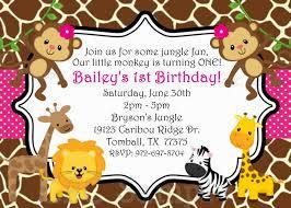 Bday Invitation Card Jungle Birthday Invitation Card Decorating Of Party