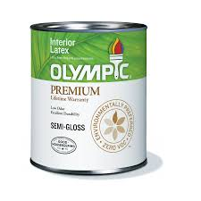 shop olympic ultra white semi gloss latex interior paint actual