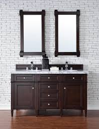 Contemporary Bathroom Vanities Contemporary 60 Inch Double Sink Bathroom Vanity Mahogany Finish