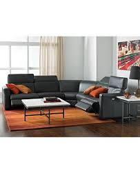 Leather Sectional Sofa With Power Recliner Nicolo Leather Sectional Living Room Furniture Sets U0026 Pieces
