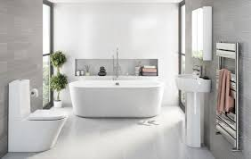White Gray Bathroom Ideas - gray and white bathroom ideas dark brown varnished wooden frame