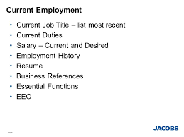 Employment History Resume Jolts Jacobs Online Talent System Jolts Ppt Download