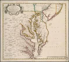 map of colonies chesapeake colonies