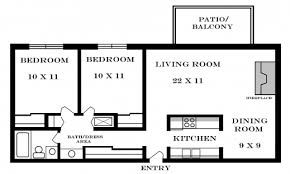 Floor Plan Of 2 Bedroom Flat Stylish Modern Small Two Bedroom Apartment Floor Plans House Plans