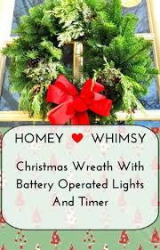wreath with battery operated lights and timer homey whimsy