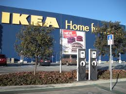 ikea canada to offer free electric charging at their stores