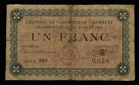 chambre de commerce de chambery numismática cédula estrangeira chambre de commerce de