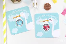 stork baby shower 10 baby gender reveal scratch cards stork