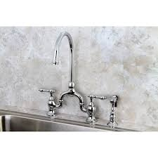 Bridge Kitchen Faucet Vintage Chrome High Spout Chrome Bridge Kitchen Faucet With