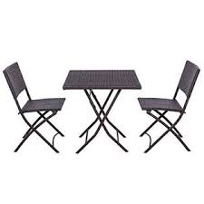 Folding Bistro Table And 2 Chairs Palm Springs Rops 0810 Garden Furniture Rattan Wicker Folding