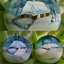hand painted christmas ornament snowman by starofwonderdesigns