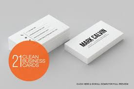 Minimal Design Business Cards 21 Clean Minimal Business Cards By Arslan Thehungryjpeg Com
