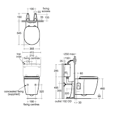 Ideal Standard Bathroom Furniture by Ideal Standard Concept Freedom Wall Hung Raised Height Toilet Uk