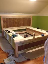 Beds With Bookshelves by Best 25 Diy Bed Frame Ideas Only On Pinterest Pallet Platform