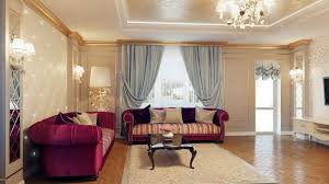 Modern Style Living Room Interior Modern Style Living Room Ideas With Purple Sofa And
