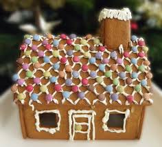 gingerbread house decorations lights card
