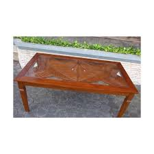 botanical carved dining table inset glass top at